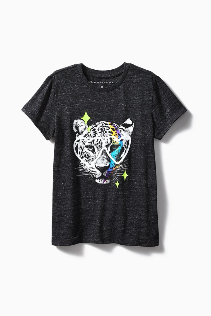 Leopard Love Glasses Tee front