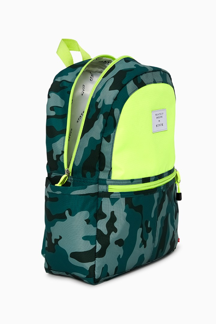 Rockets Of Awesome X State Backpack In Camo Neon detail