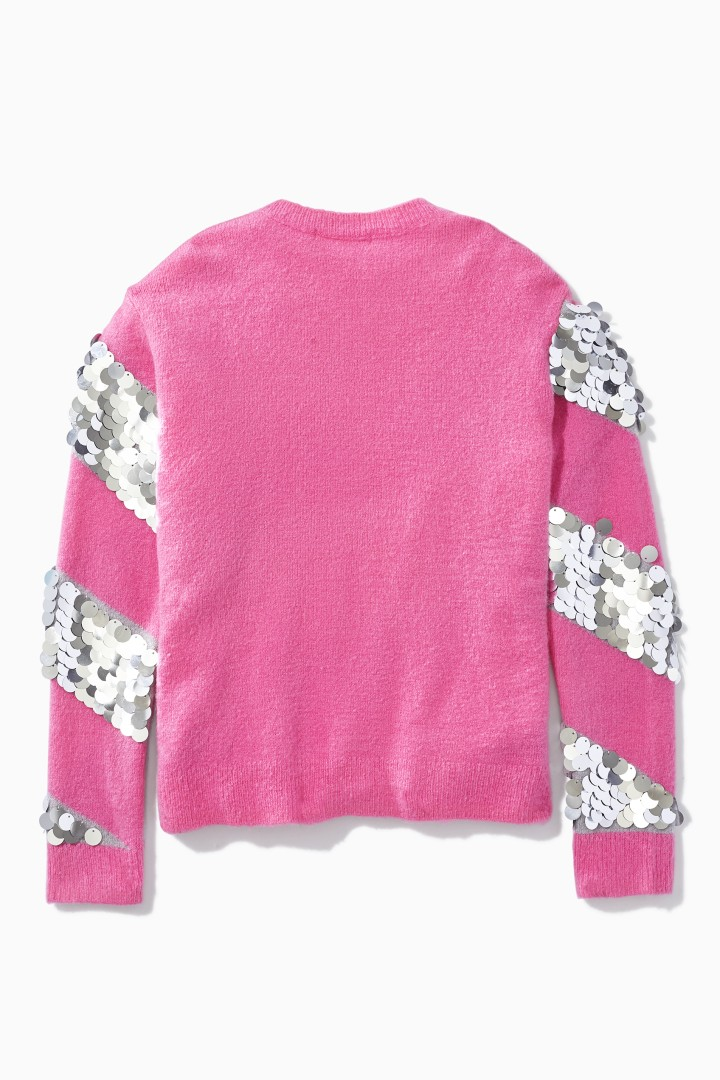 Party Time Paillette Sweater back