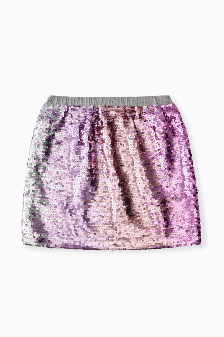 Ombre Shimmer Flip Sequin Skirt back