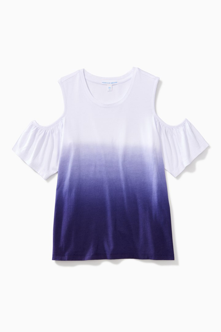 Ombre Cold Shoulder Top front