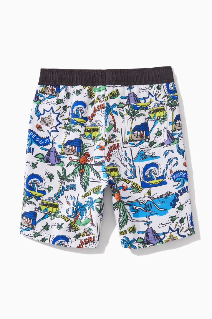Comic Strip Swim Trunk back