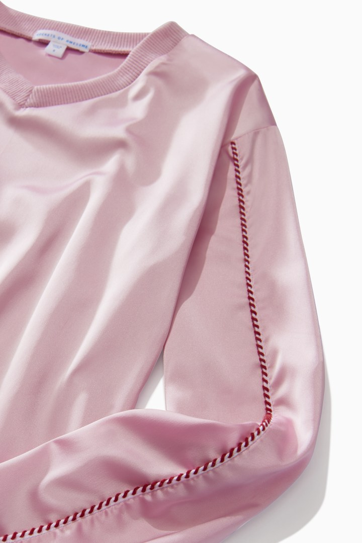 Satin V-Neck Top detail
