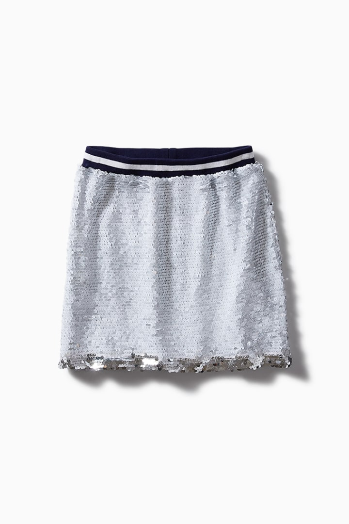 Varsity Sequin Skirt detail