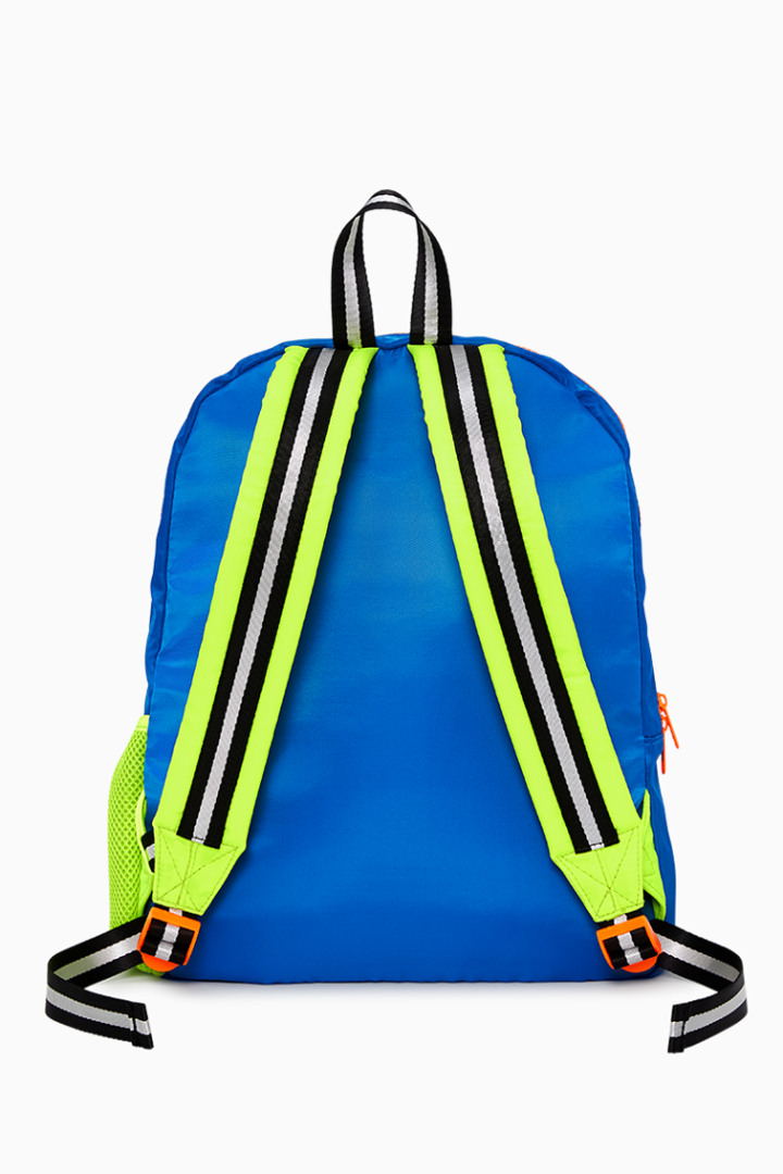 Neon Blue Backpack back