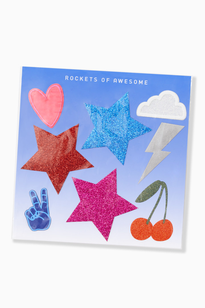 Glitter Star Patch Set front
