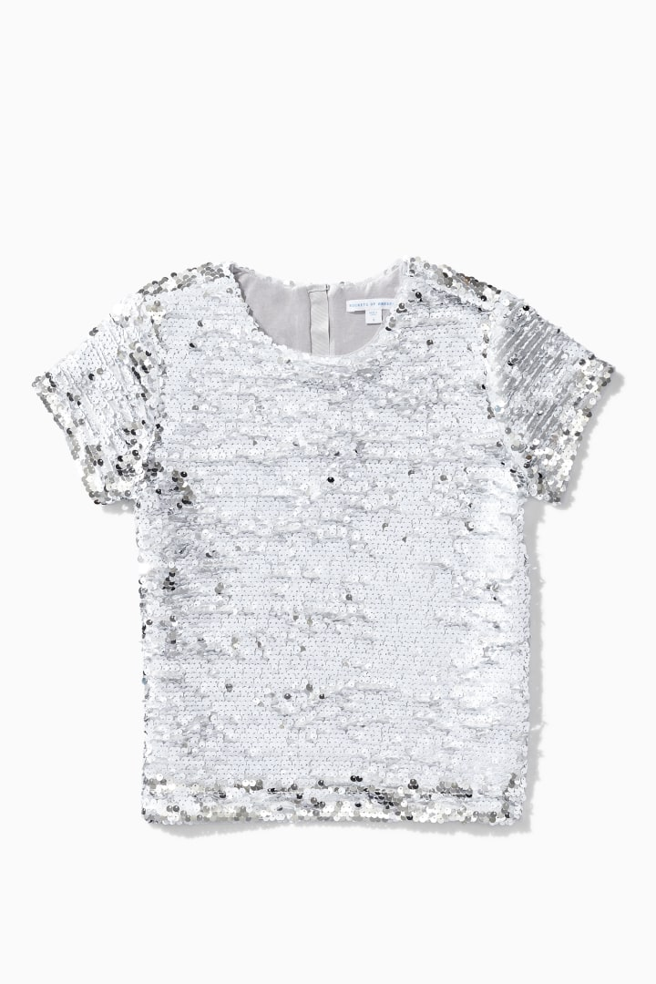 Flip Sequin Top detail