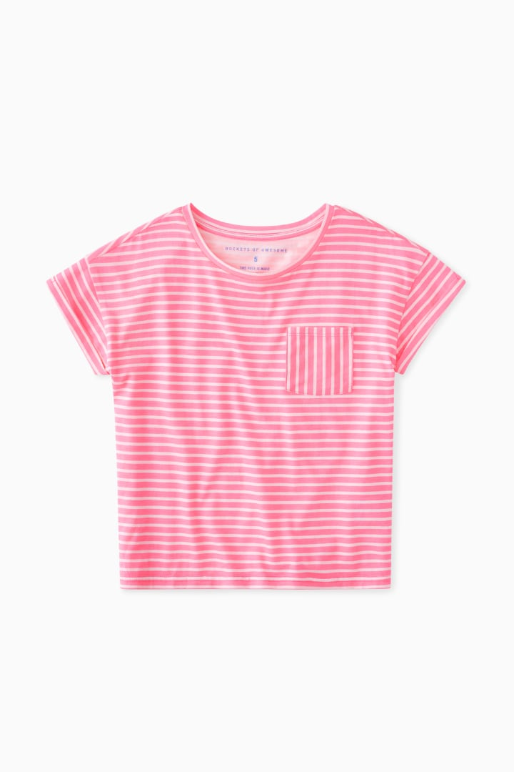 Essential Stripe Pocket Tee front