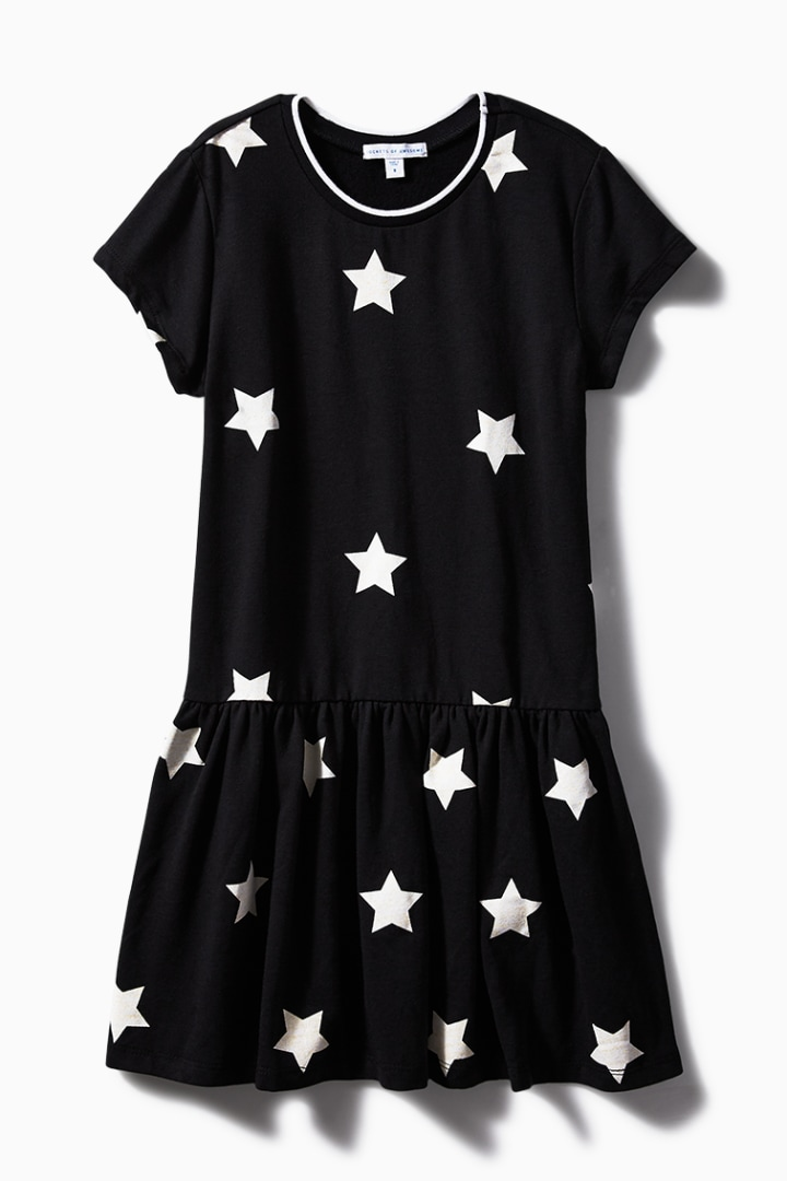 Star Drop Waist Dress front