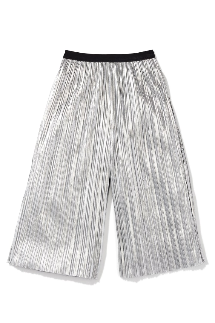 Crinkle Cut Silver Culotte front