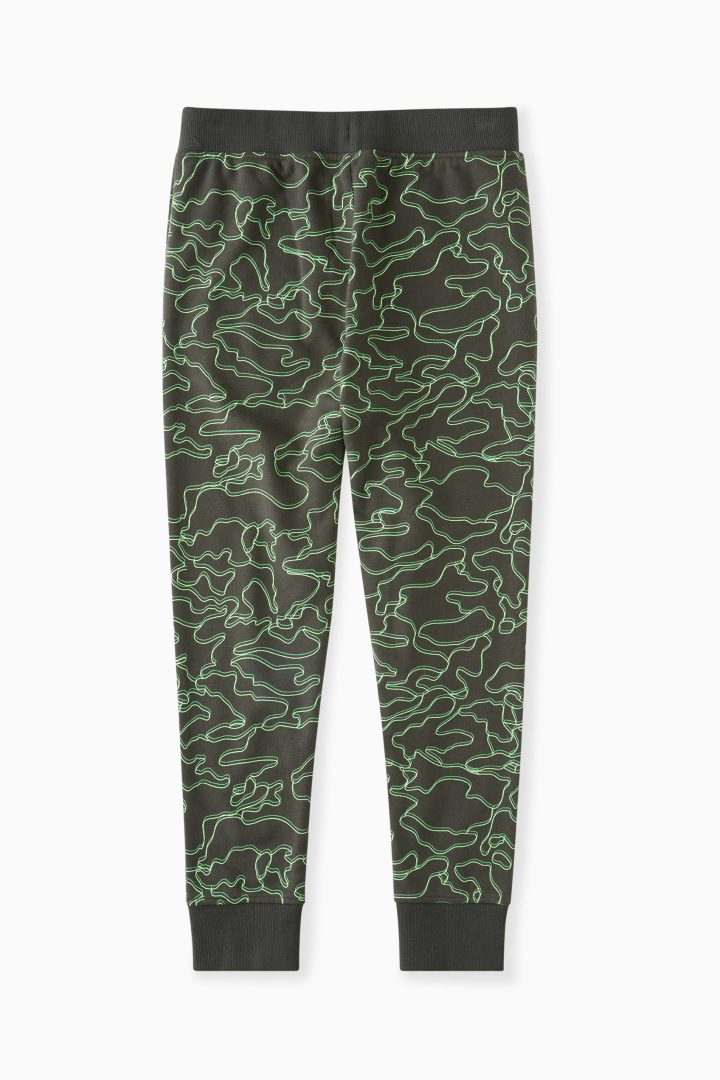 Linear Lime Camo Jogger back