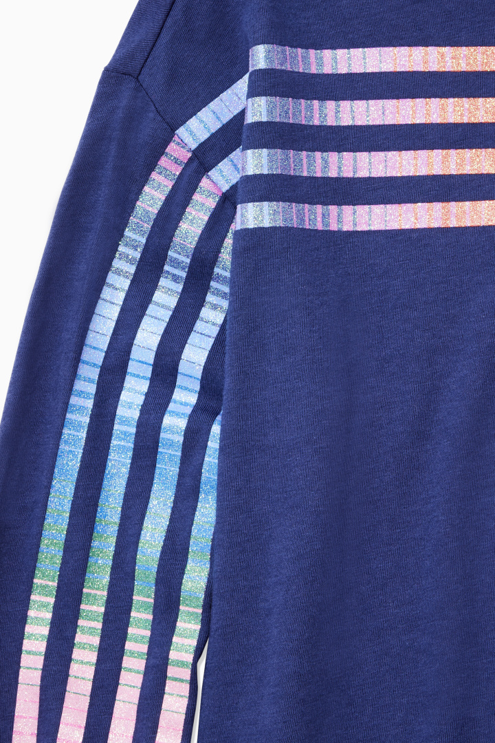 Glitter Rainbow Stripe Tee detail