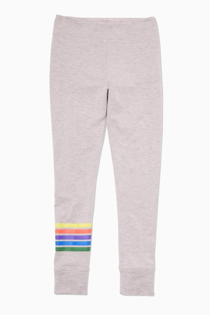 Supersoft Rainbow Varsity Legging front
