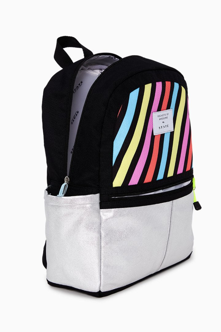 Rockets Of Awesome X State Backpack In Pastel Rainbow detail