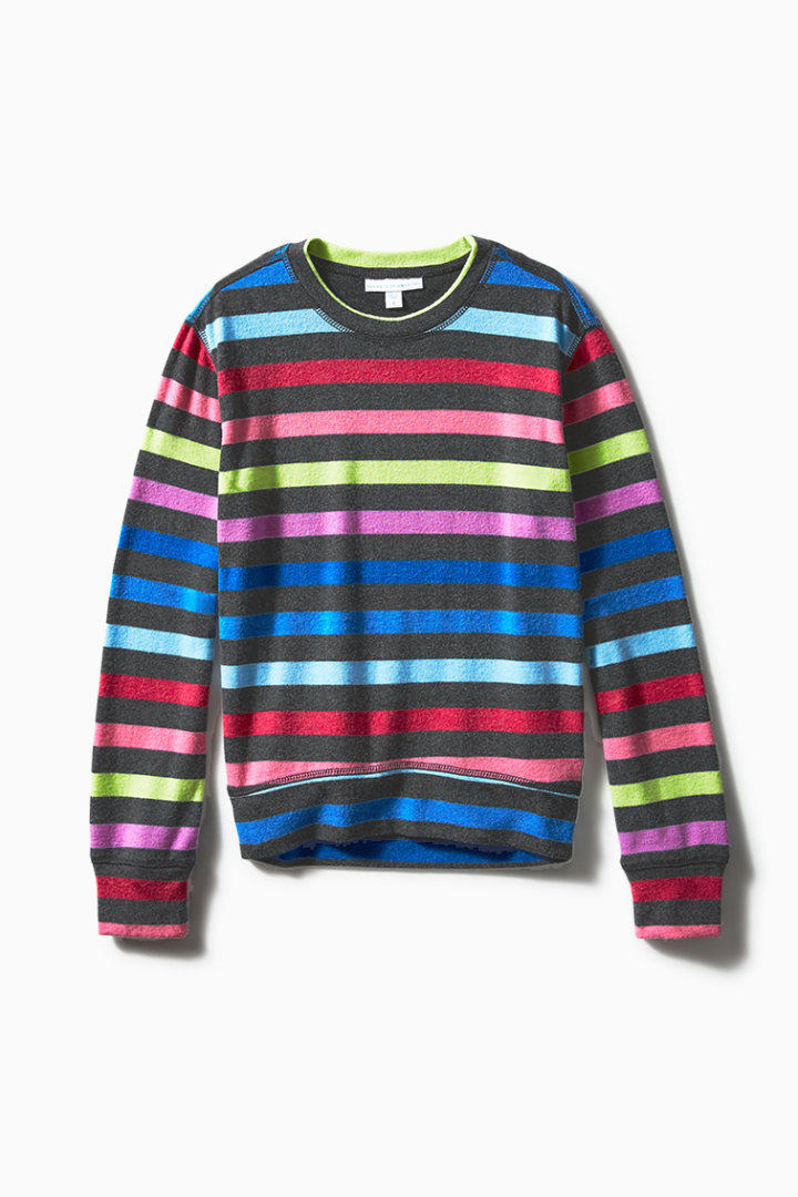 Rainbow Stripe Comfy Crew Main Image