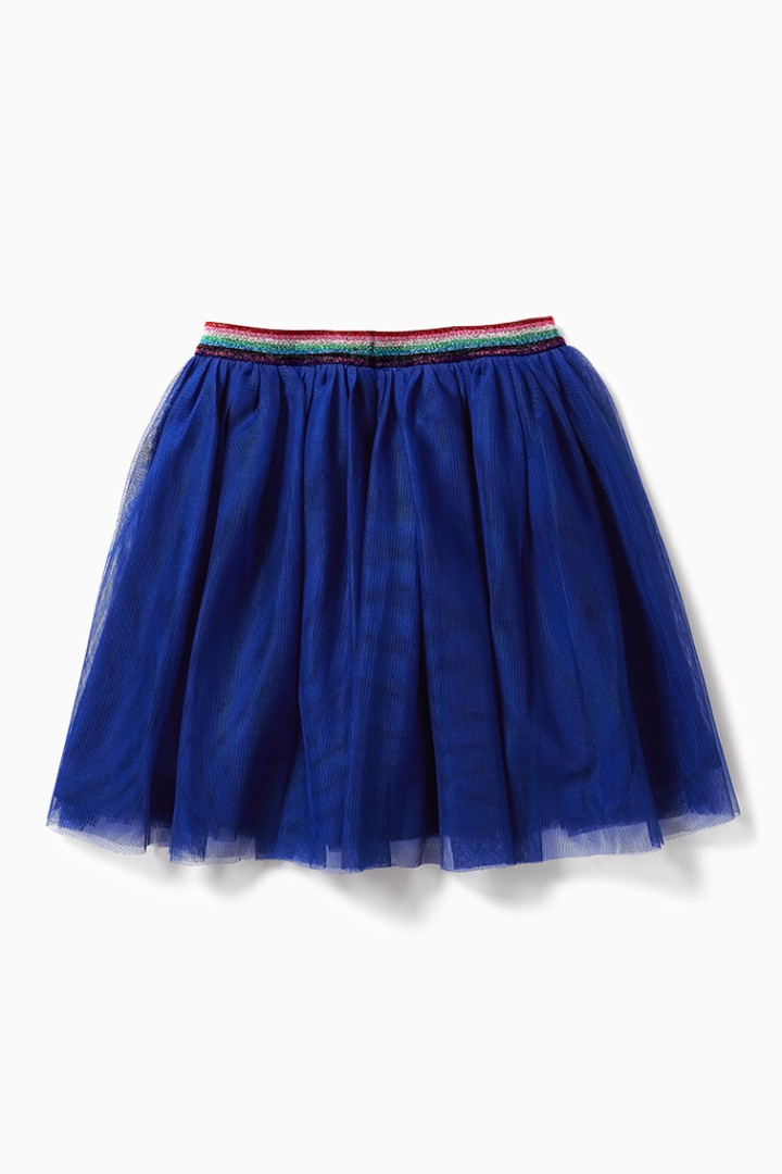 Rainbow Waist Tulle Skirt back