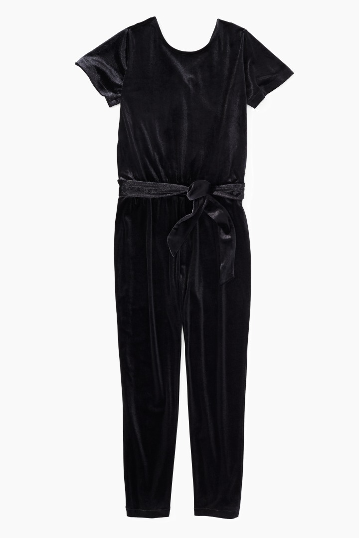 DVF X Rockets Of Awesome Velvet Jumpsuit front