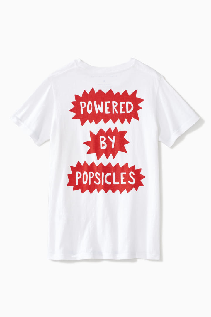 Powered By Popsicles Tee back
