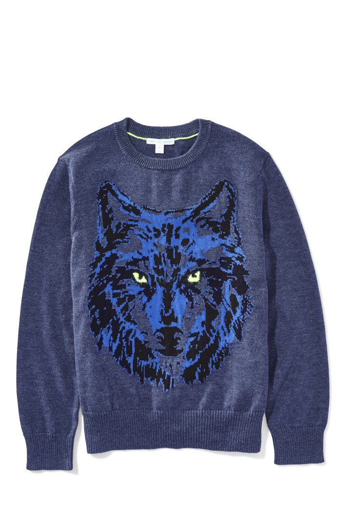 Neon Wolf Sweater front
