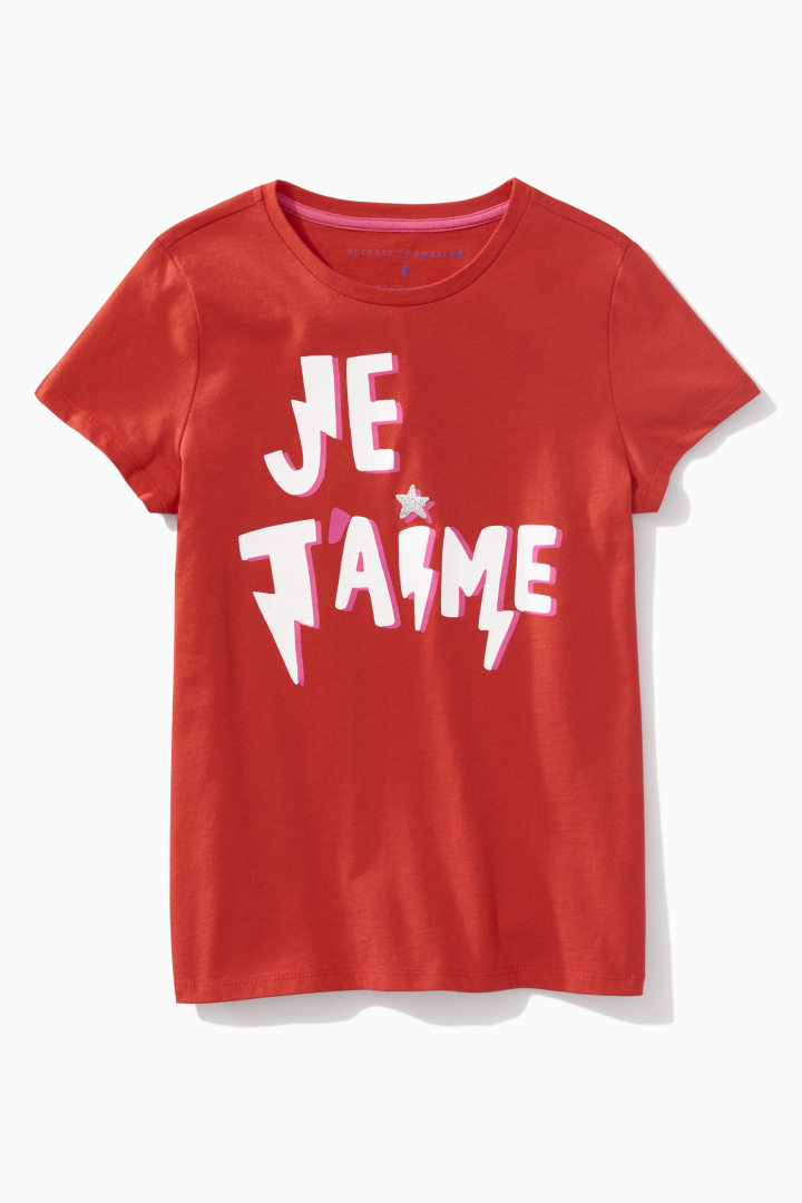 Glitter Star Je T'aime Tee front