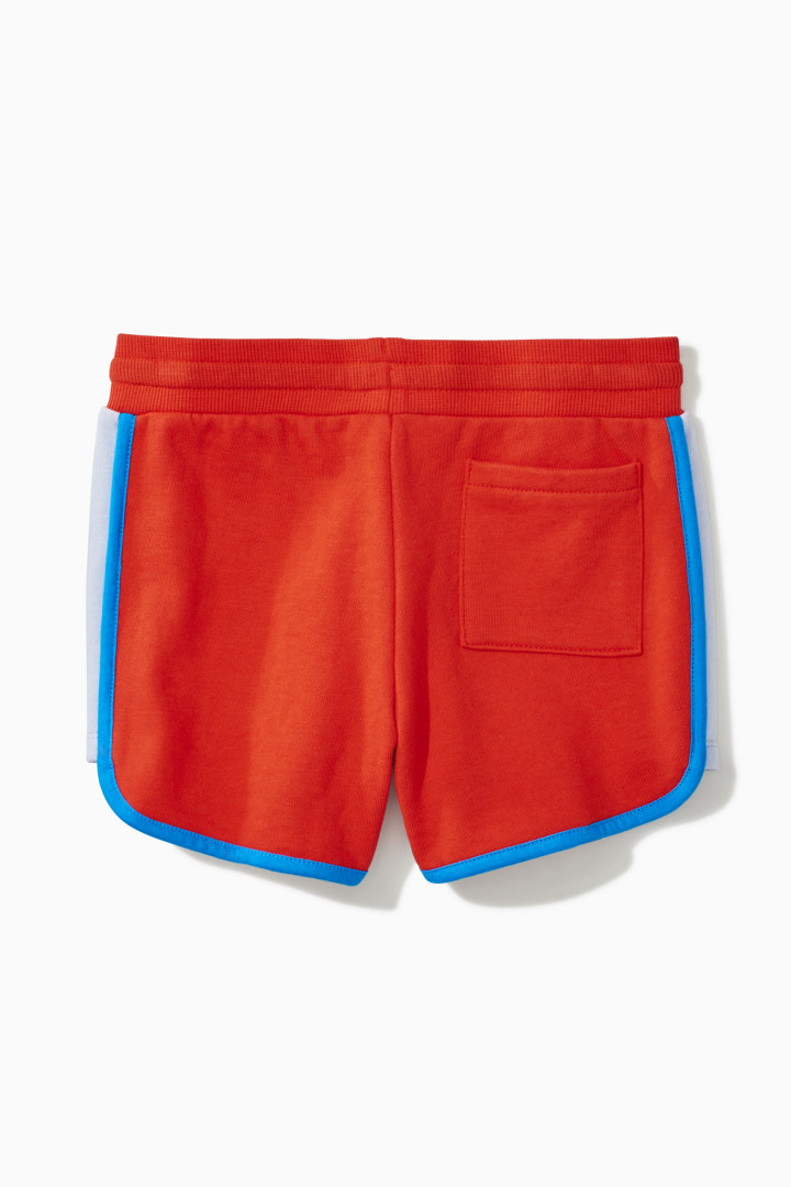 Color Block Dolphin Hem Short back
