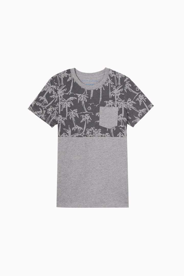 Palm Blocked Pocket Tee Main Image