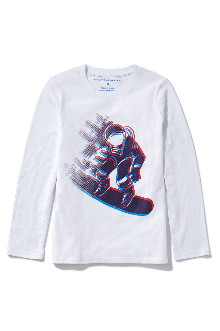 3D Snow Boarder Tee detail