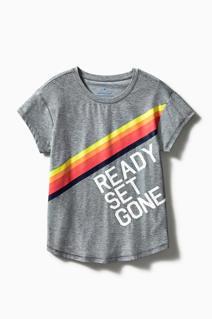 Ready Set Gone Active Tee front