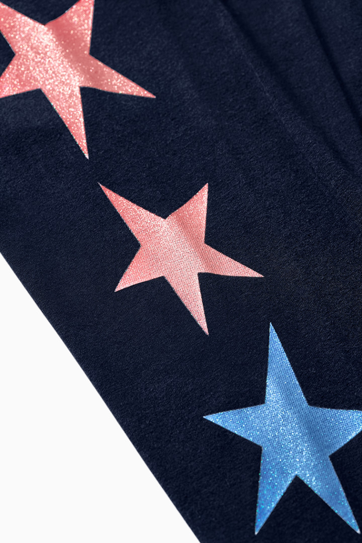 Glitter Star Legging detail