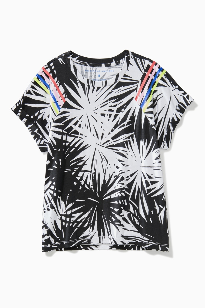 Palm Print Boxy Tee front