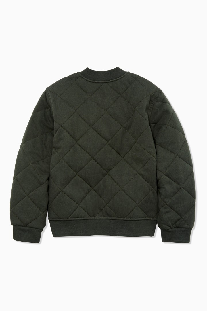 Quilted Bomber back
