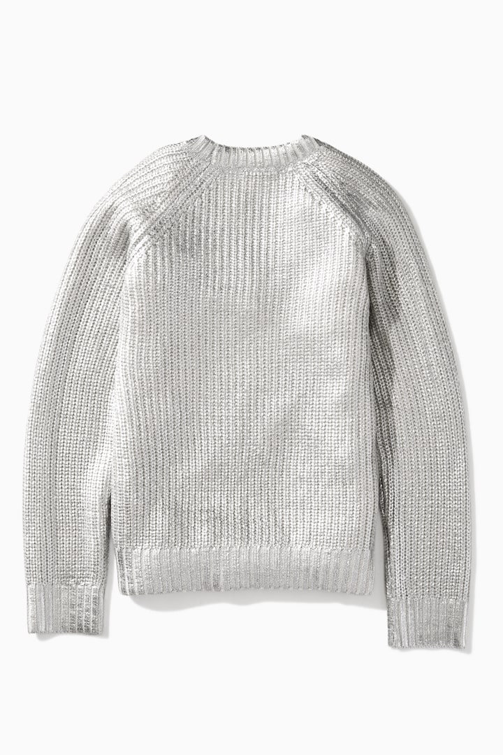 Molten Metallic Sweater back