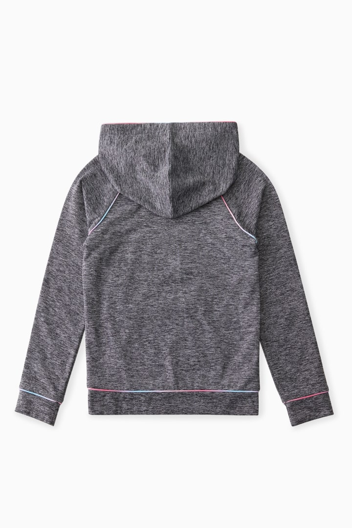 Active Hoodie With Ombre Piping back