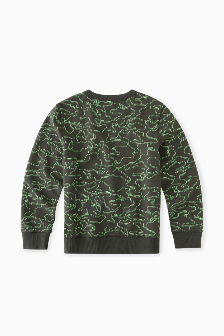 Linear Lime Camo Sweatshirt back