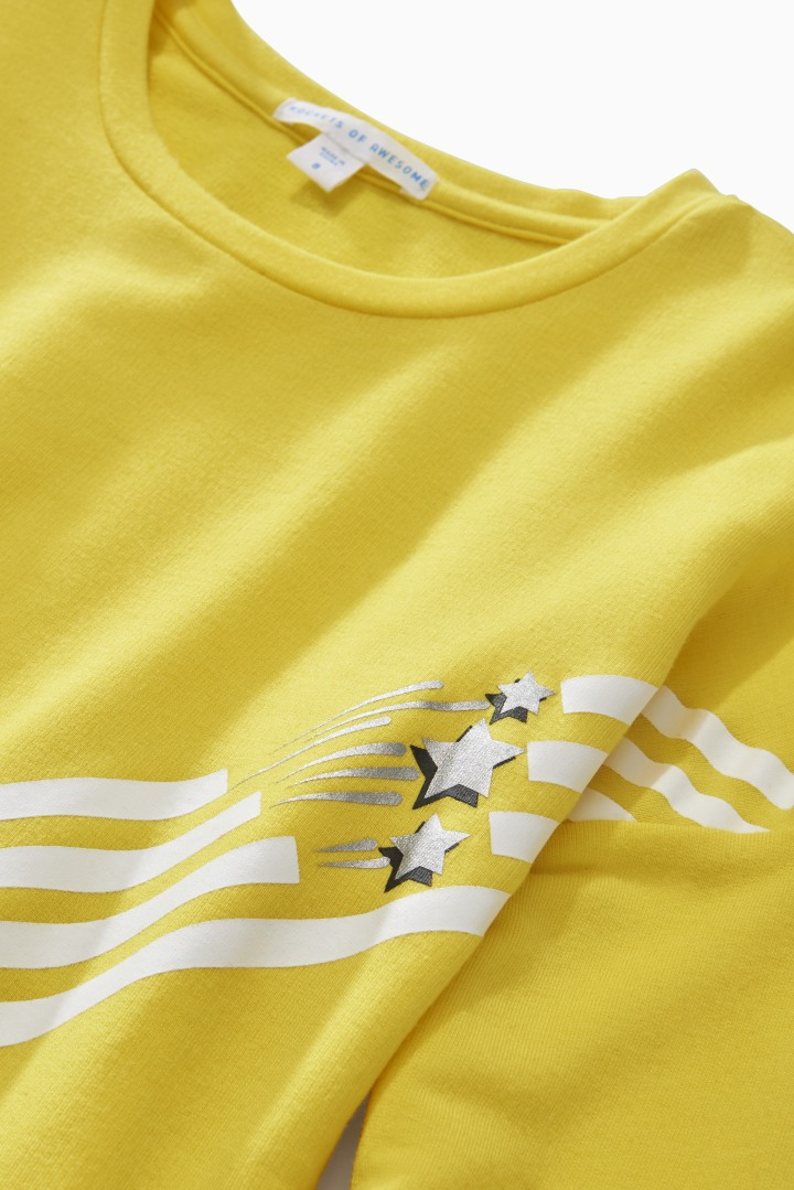 Star Sporty Stripe Tee detail