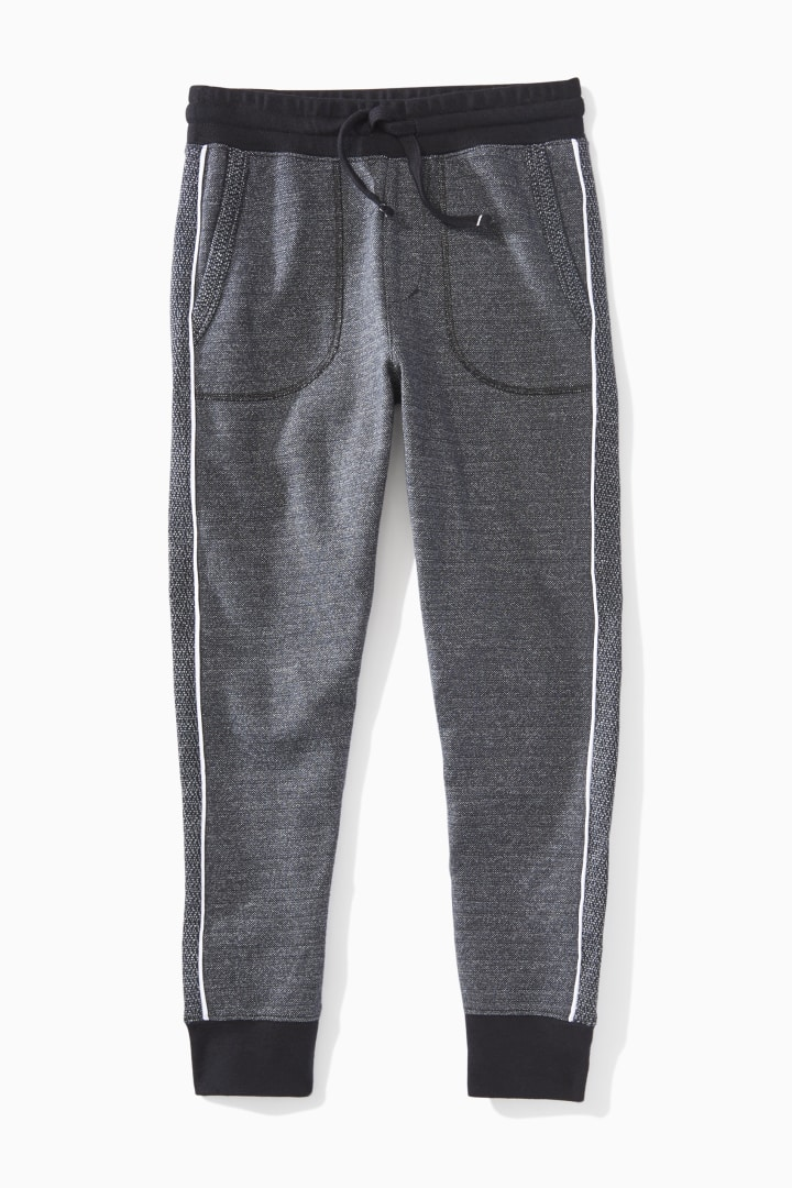 Piped Textured Jogger  front