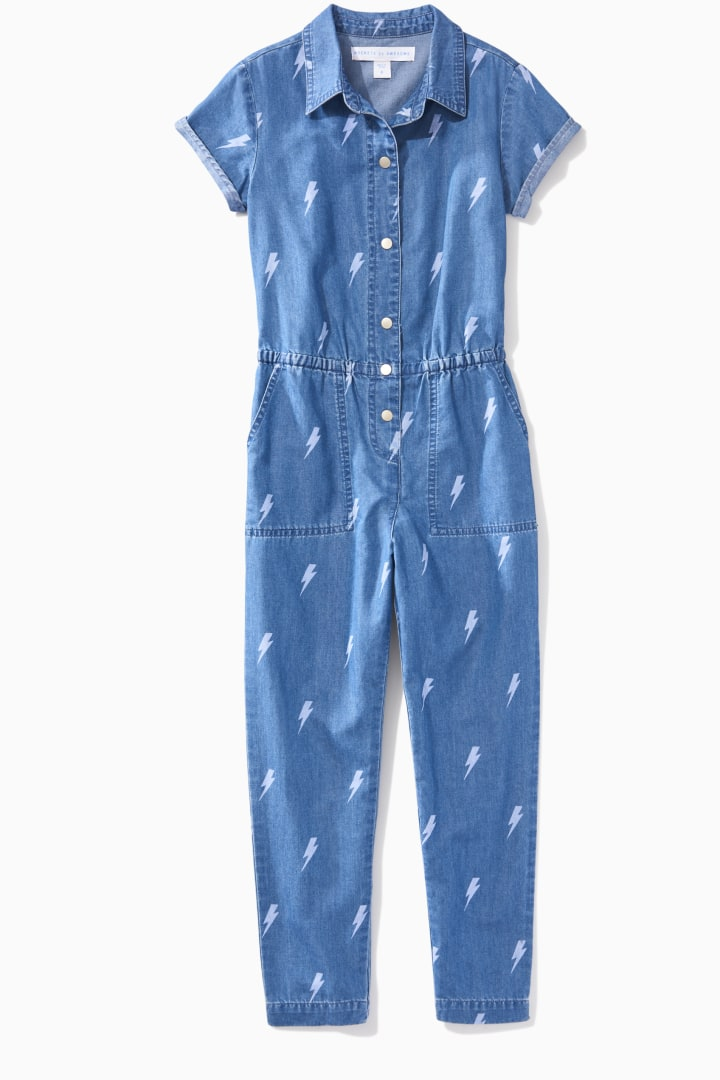 Chambray Lightning Jumpsuit front