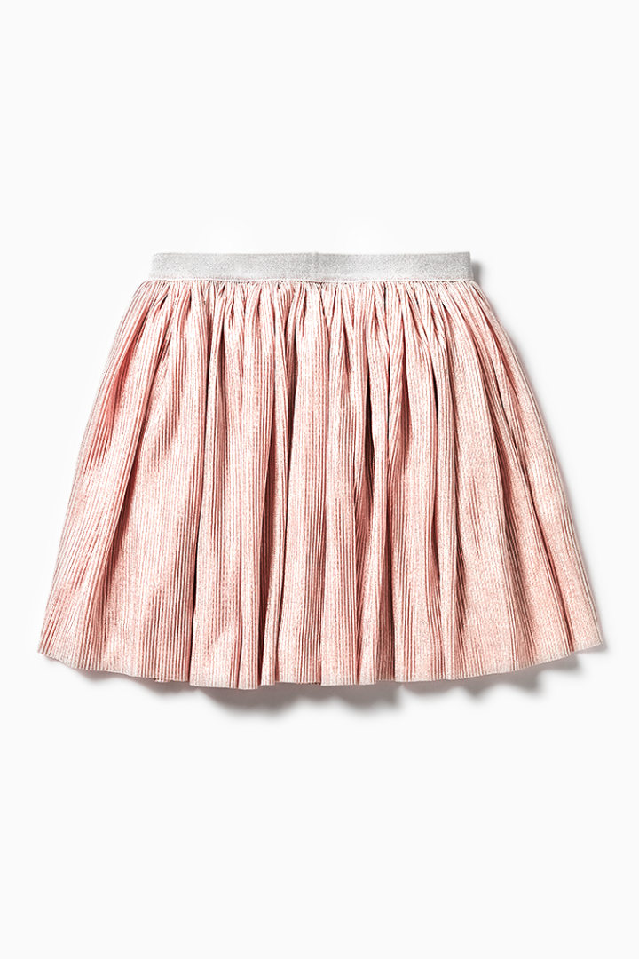 Crinkle Pleat Skirt back