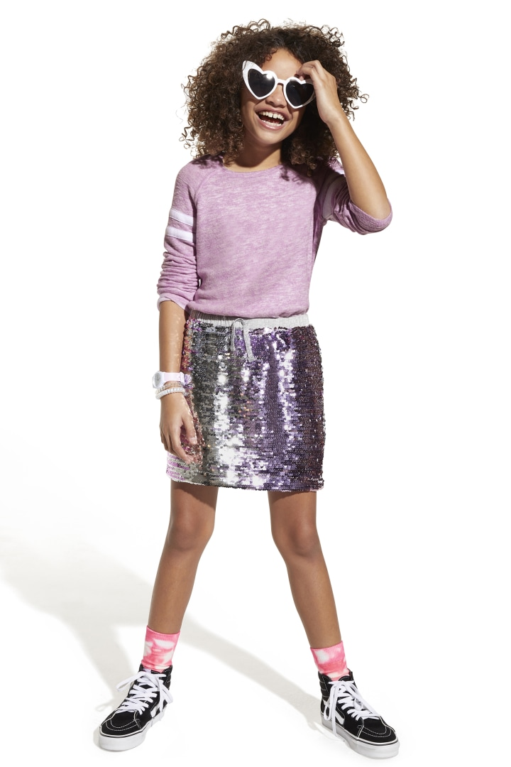 Ombre Shimmer Flip Sequin Skirt other