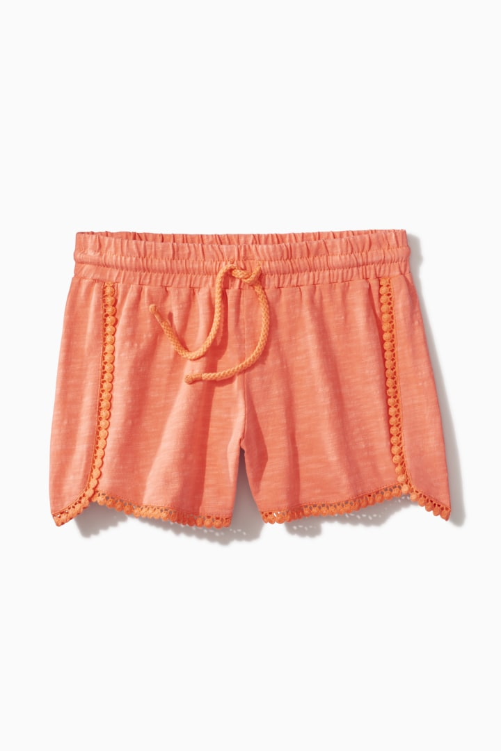 Crochet Trim Short front