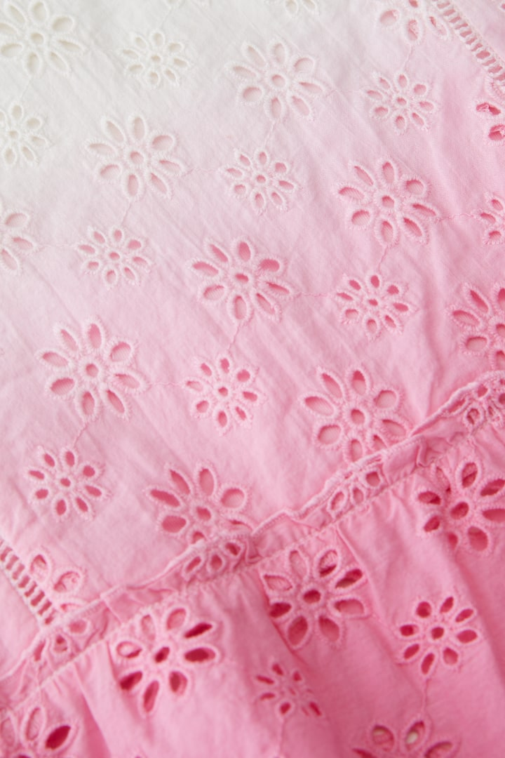 Ombre Eyelet Blouse detail