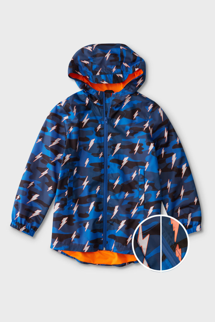 Color-Changing Raincoat In Camo front