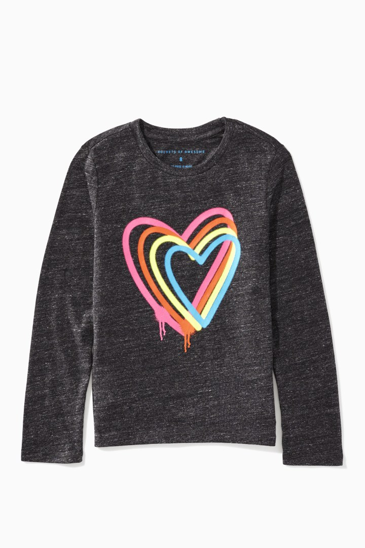 Rainbow Hearts Tee Main Image