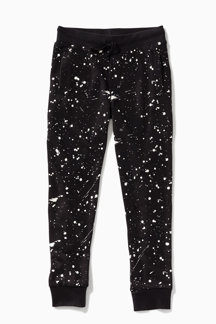 Glow-In-The-Dark Splatter Jogger front