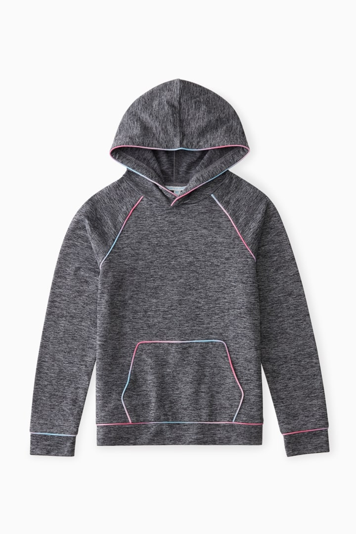 Active Hoodie With Ombre Piping front