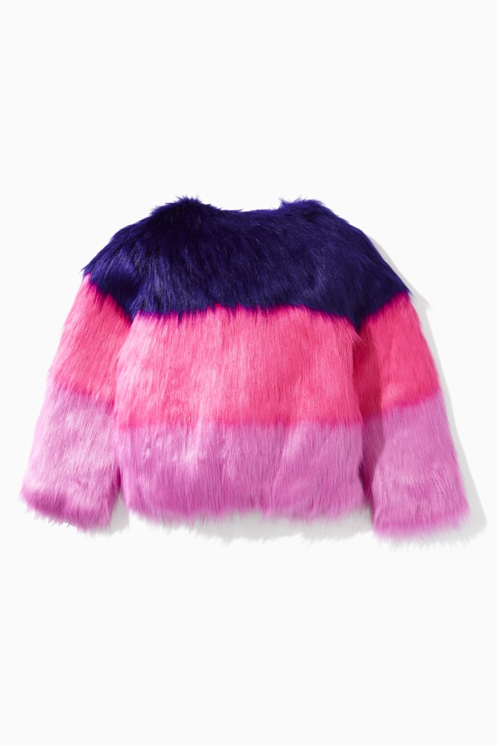 DVF X Rockets Of Awesome Faux Fur Jacket back