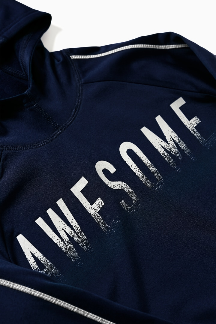 Static Awesome Active Hoodie detail