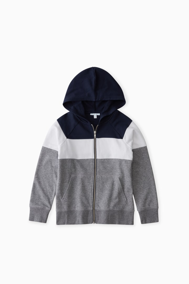 Colorblock Full-Zip Sweatshirt front