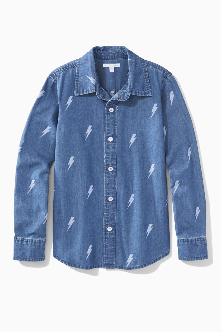 Chambray Button Down front
