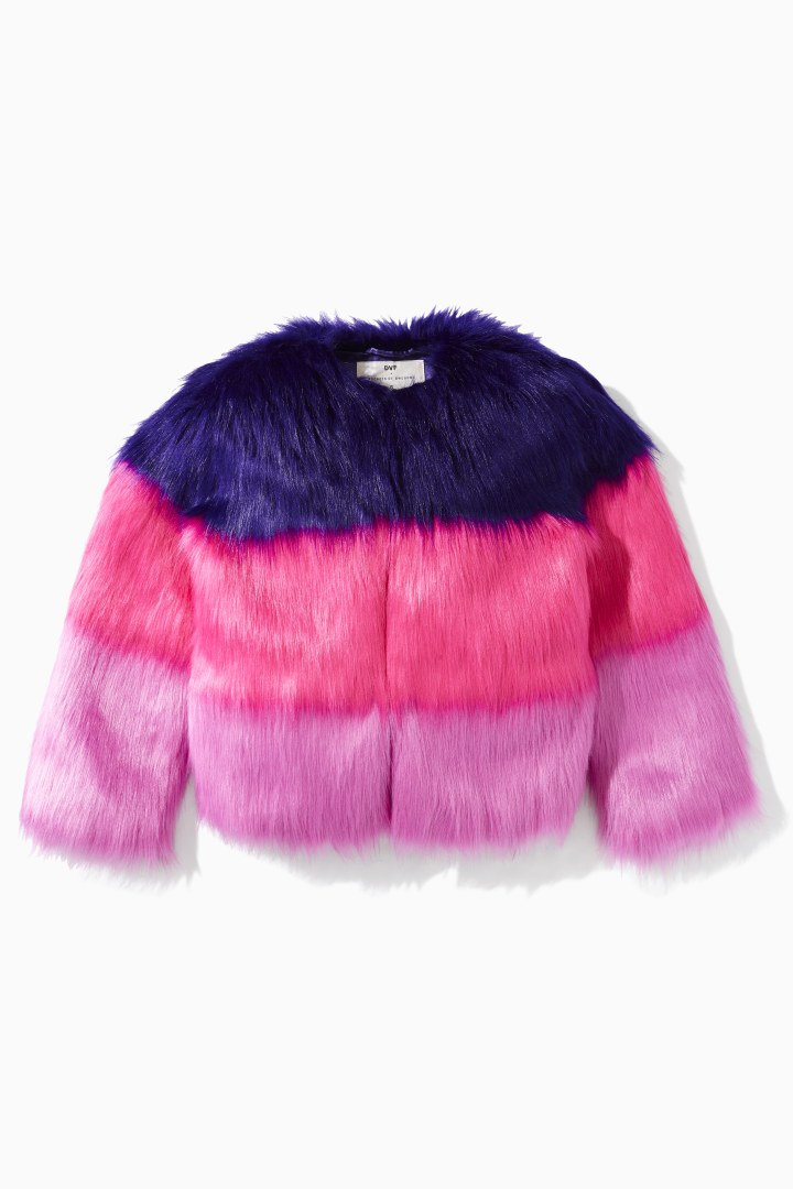 DVF X Rockets Of Awesome Faux Fur Jacket front
